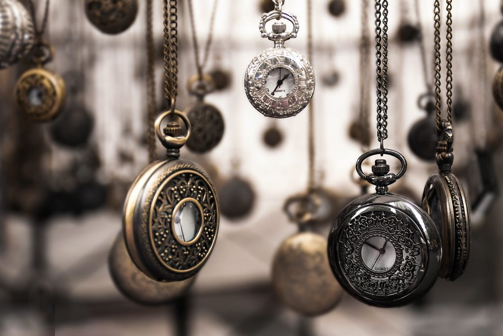 picture of hanging pocket watches